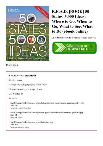 R.E.A.D. [BOOK] 50 States  5 000 Ideas Where to Go  When to Go  What to See  What to Do (ebook online)