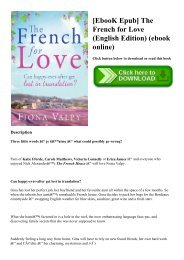[EbooK Epub] The French for Love (English Edition) (ebook online)