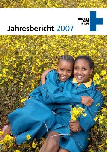 Jahresbericht 2007 zum Download - Kindernothilfe