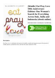 Eat Pray Love Ebook