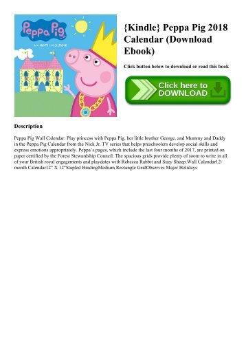 {Kindle} Peppa Pig 2018 Calendar (Download Ebook)