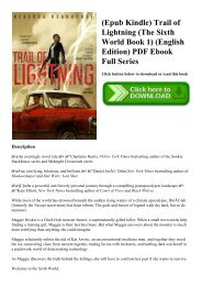 (Epub Kindle) Trail of Lightning (The Sixth World Book 1) (English Edition) PDF Ebook Full Series