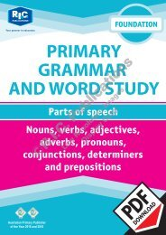 RIC-20222 Primary Grammar and Word Study Foundation – Parts of Speech