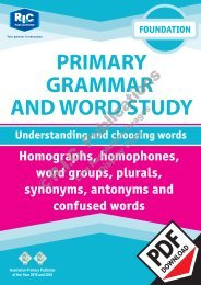 RIC-20223 Primary Grammar and Word Study Foundation – Understanding and choosing words