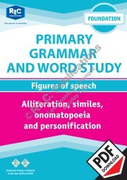 RIC-20225 Primary Grammar and Word Study Foundation – Figures of Speech