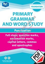 RIC-20224 Primary Grammar and Word Study Foundation – Punctuation