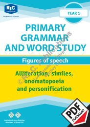 RIC-20229 Primary Grammar and Word Study Year 1 – Figures of Speech