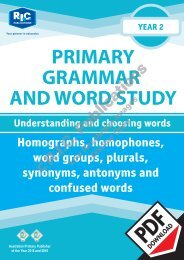 RIC-20231 Primary Grammar and Word Study Year 2 – Understanding and choosing words