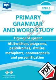 RIC-20233 Primary Grammar and Word Study Year 2 – Figures of Speech
