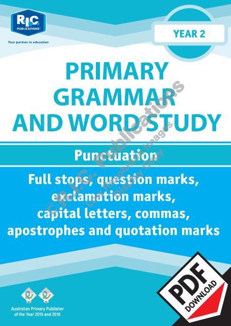 RIC-20232 Primary Grammar and Word Study Year 2 – Punctuation