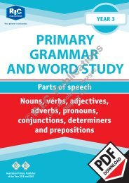RIC-20234 Primary Grammar and Word Study Year 3 – Parts of Speech