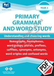 RIC-20235 Primary Grammar and Word Study Year 3 – Understanding and choosing words