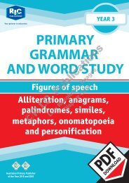 RIC-20237 Primary Grammar and Word Study Year 3 – Figures of Speech