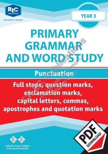 RIC-20236 Primary Grammar and Word Study Year 3 – Punctuation
