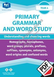 RIC-20239 Primary Grammar and Word Study Year 4 – Understanding and choosing words