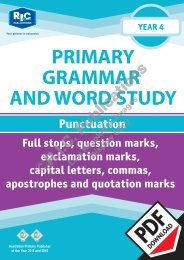 RIC-20240 Primary Grammar and Word Study Year 4 – Punctuation
