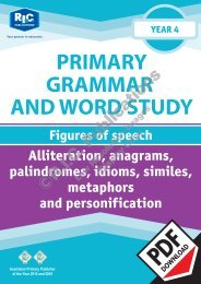 RIC-20241 Primary Grammar and Word Study Year 4 – Figures of Speech