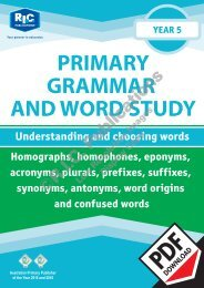 RIC-20243 Primary Grammar and Word Study Year 5 – Understanding and choosing words