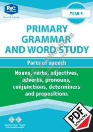 RIC-20242 Primary Grammar and Word Study Year 5 – Parts of Speech