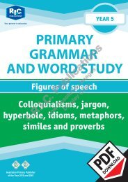 RIC-20245 Primary Grammar and Word Study Year 5 – Figures of Speech