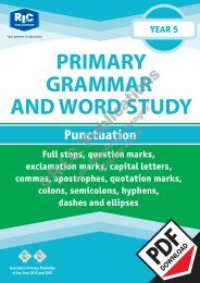 RIC-20244 Primary Grammar and Word Study Year 5 – Punctuation