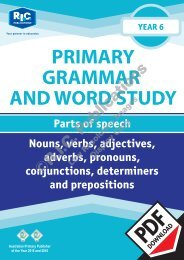 RIC-20246 Primary Grammar and Word Study Year 6 – Parts of Speech