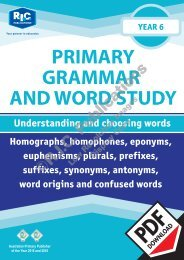 RIC-20247 Primary Grammar and Word Study Year 6 – Understanding and choosing words