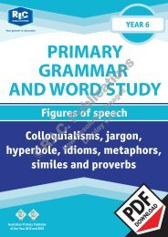RIC-20249 Primary Grammar and Word Study Year 6 – Figures of Speech