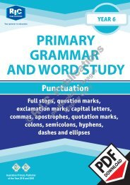 RIC-20248 Primary Grammar and Word Study Year 6 – Punctuation