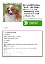 R.E.A.D. [BOOK] Just Cavalier King Charles Spaniels 2019 Wall Calendar (Dog Breed Calendar) Download and Read online