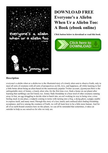 DOWNLOAD FREE Everyone's a Aliebn When Ur a Aliebn Too A Book (ebook online)