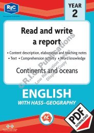 RIC-30030 Continents and oceans - Read and write a report