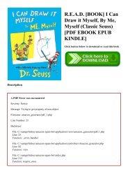R.E.A.D. [BOOK] I Can Draw it Myself  By Me  Myself (Classic Seuss) [PDF EBOOK EPUB KINDLE]