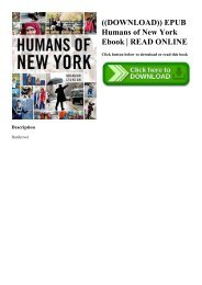 Humans Of New York Epub