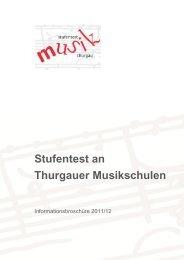 Stufentest an Thurgauer Musikschulen