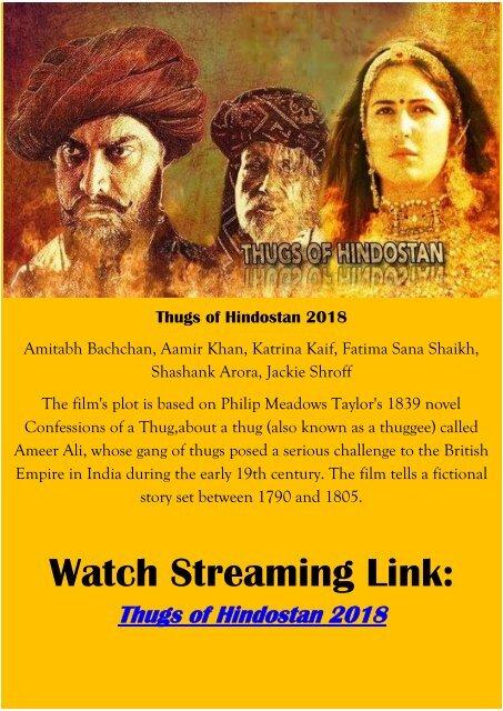 Download Streaming Hindi Movie New Thugs Of Hindostan 2018 Full