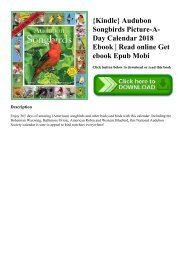 {Kindle} Audubon Songbirds Picture-A-Day Calendar 2018 Ebook  Read online Get ebook Epub Mobi