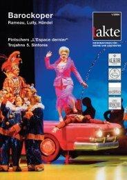 "Barockoper Rameau, Lully, Händel Pintschers ""L'Espace dernier"""