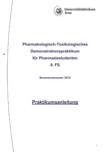 Ablaufplan - Institut für Pharmakologie und Toxikologie