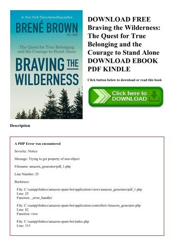 Download pdf 100 days to brave devotions for unlocking your most download free braving the wilderness the quest for true belonging and the courage to stand alone fandeluxe Image collections