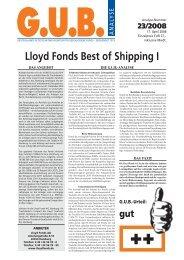 Lloyd Fonds Best of Shipping I