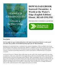 DOWNLOAD EBOOK Seaweed Chronicles A World at the Water's Edge (English Edition) Ebook  READ ONLINE
