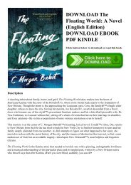 DOWNLOAD The Floating World A Novel (English Edition) DOWNLOAD EBOOK PDF KINDLE