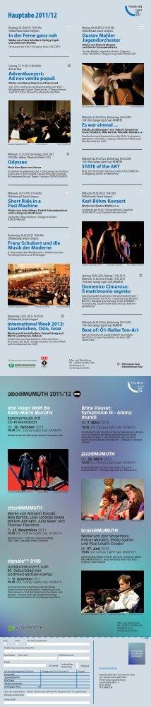 Aboprogramm 2011/12 - Universität für Musik und darstellende ...