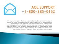 Aol Support Number- 1-800-385-0162  Tollfree Number Support