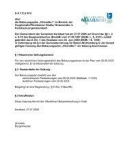 Ortsmitte - Gemeinde Karlsbad