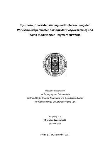 Synthese, Charakterisierung und Untersuchung der ...