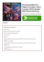 Download [PDF] Five Nights at Freddy's Sister Location 2018 Calendar PDF Ebook Full Series