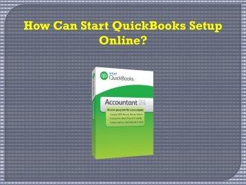 How Can Start Quickbooks Setup Online?