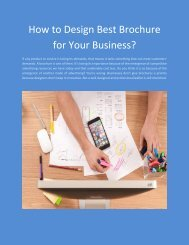 How to Design Best Brochure for Your Business?